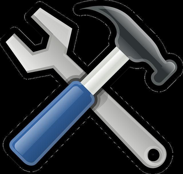 klíč a kladivo, opravy
