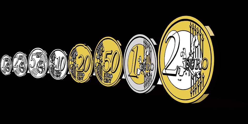 postavené mince